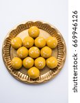 besan laddoo   roasted gram... | Shutterstock . vector #669946126