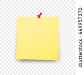 post blank sticky note paper... | Shutterstock .eps vector #669957370