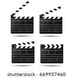 clap movie board vector clapper ... | Shutterstock .eps vector #669957460