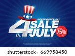 4th july happy independence day ... | Shutterstock .eps vector #669958450