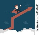 flight. businessman fly... | Shutterstock .eps vector #669967099