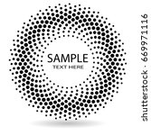 halftone dots in circle form.... | Shutterstock .eps vector #669971116