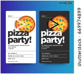 pizza party invitation template ...   Shutterstock .eps vector #669974899
