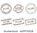 fish stamps   Shutterstock .eps vector #669976528