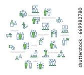 business people presentation...   Shutterstock . vector #669982780