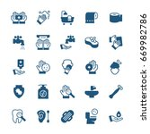 simple icon set of hygiene...   Shutterstock . vector #669982786