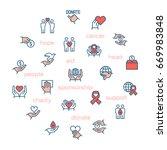 charity  sponsorship donation... | Shutterstock . vector #669983848