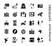 simple icon set of navigation...   Shutterstock . vector #669983884