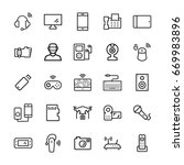 electronic gadgets and devices...   Shutterstock . vector #669983896