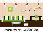 living room with furniture ....   Shutterstock . vector #669983908