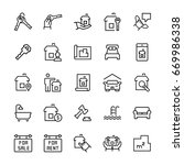 simple icon set of real estate... | Shutterstock . vector #669986338