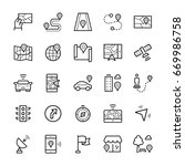 simple icon set of navigation... | Shutterstock . vector #669986758