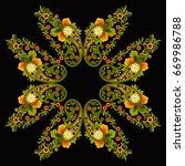 hungarian folk art  | Shutterstock .eps vector #669986788