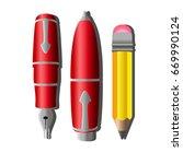 writing pen vector pencil icon... | Shutterstock .eps vector #669990124
