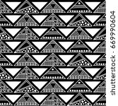 seamless pattern. black and... | Shutterstock . vector #669990604