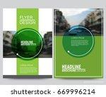 abstract vector modern flyers... | Shutterstock .eps vector #669996214