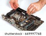 modern computer mother board... | Shutterstock . vector #669997768