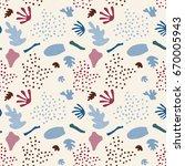 modern vector seamless pattern... | Shutterstock .eps vector #670005943