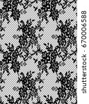 seamless vector black lace... | Shutterstock .eps vector #670006588