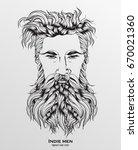 indie men. hipster hair style... | Shutterstock .eps vector #670021360