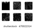 grunge post stamps collection ... | Shutterstock .eps vector #670022314