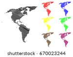 map of america vector... | Shutterstock .eps vector #670023244