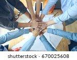 work group of gngineer  people... | Shutterstock . vector #670025608