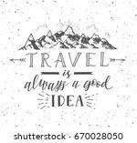 sketch of mountain. vector hand ... | Shutterstock .eps vector #670028050