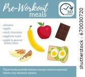 pre workout meals poster. best... | Shutterstock .eps vector #670030720