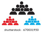 people icon on white background....   Shutterstock .eps vector #670031950