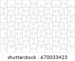 jigsaw puzzle blank template or ... | Shutterstock .eps vector #670033423