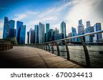 singapore city skyline of... | Shutterstock . vector #670034413