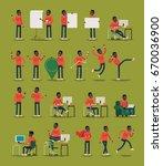vector infographics casually... | Shutterstock .eps vector #670036900