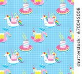 seamless pattern with summer...   Shutterstock .eps vector #670043008