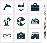 sun icons set. collection of... | Shutterstock .eps vector #670043674