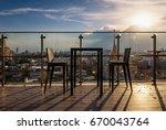 sky bar in bangkok city from... | Shutterstock . vector #670043764