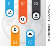media icons set. collection of... | Shutterstock .eps vector #670044340