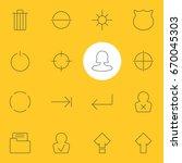 vector illustration of 16 user... | Shutterstock .eps vector #670045303
