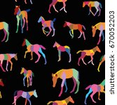 seamless pattern with colorful... | Shutterstock .eps vector #670052203
