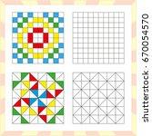 worksheet for preschool kids.... | Shutterstock .eps vector #670054570