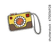 isolated camera in patch style. | Shutterstock .eps vector #670056928