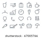 vector icons of  shopping and... | Shutterstock .eps vector #67005766