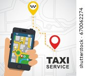 taxi service | Shutterstock .eps vector #670062274