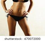 girl in black lingerie. young...   Shutterstock . vector #670072000