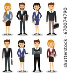 business people  group of... | Shutterstock .eps vector #670074790