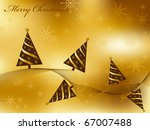 gold christmas greeting card | Shutterstock . vector #67007488