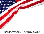 united states of american flag... | Shutterstock . vector #670075630