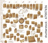brown price tag set isolated on ... | Shutterstock .eps vector #67007656