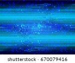 future technology  blue cyber...   Shutterstock .eps vector #670079416