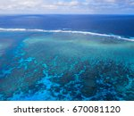 Small photo of Aerial view of the Great Barrier Reef - Agincourt Reefs, Australia - UNESCO world heritage site